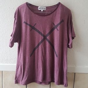 Wildfox burn out style graphic tee small GUC